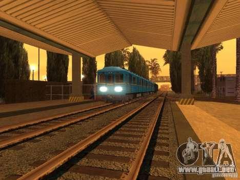 Unity Station para GTA San Andreas sucesivamente de pantalla