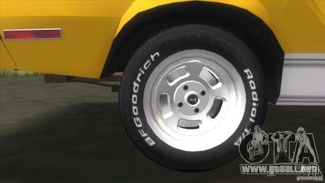 Ford Mustang Cobra 1976 para GTA Vice City visión correcta