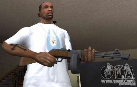 PPŠ41 para GTA San Andreas tercera pantalla