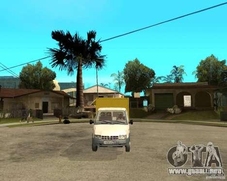 Parrilla de Gaz-3302 gacela para GTA San Andreas vista hacia atrás