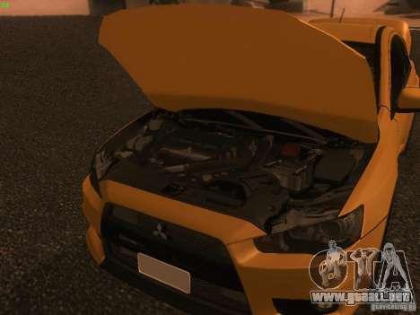 Mitsubishi  Lancer Evo X BMS Edition para vista lateral GTA San Andreas