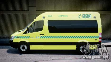 Mercedes-Benz Sprinter PK731 Ambulance [ELS] para GTA 4 left