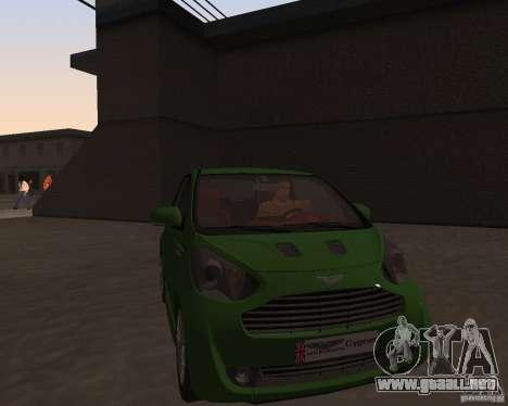 Aston Martin Cygnet Concept 2009 V1.0 para GTA San Andreas