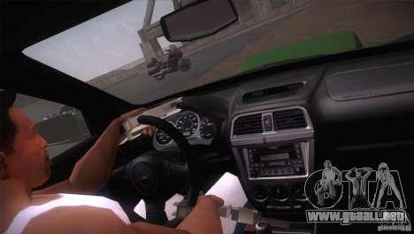 Subaru Impreza WRX STi para la vista superior GTA San Andreas