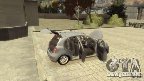 Nissan Micra para GTA 4 vista superior