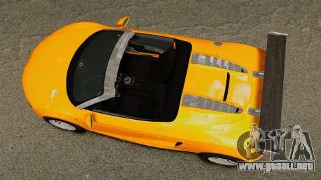 Audi R8 Spyder para GTA 4 visión correcta