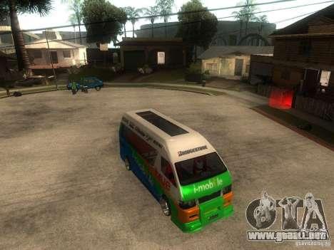 Toyota Commuter VIP Van para la visión correcta GTA San Andreas