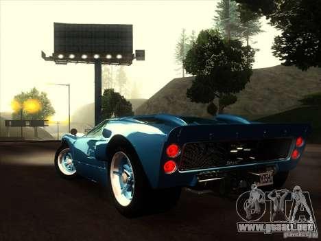 Ford GT40 1966 para visión interna GTA San Andreas