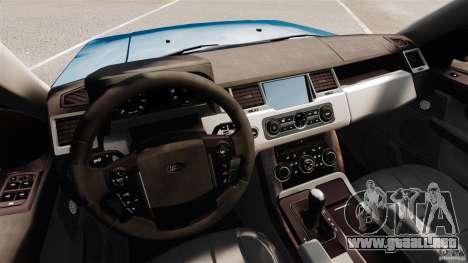 Land Rover Range Rover Sport HSE 2010 para GTA 4 vista hacia atrás