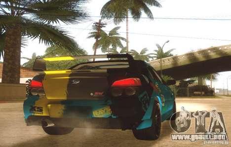 Subaru Impreza WRX STI Futou Battle para la visión correcta GTA San Andreas