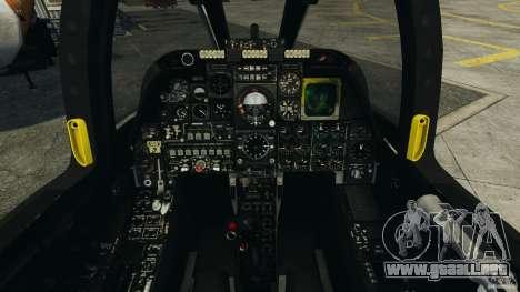 A-10A Thunderbolt II para GTA 4 vista hacia atrás