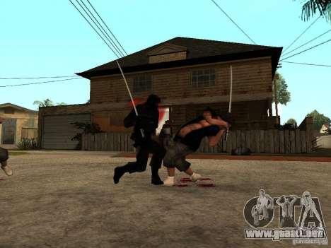 La lucha con las katanas en Grove Street para GTA San Andreas sucesivamente de pantalla