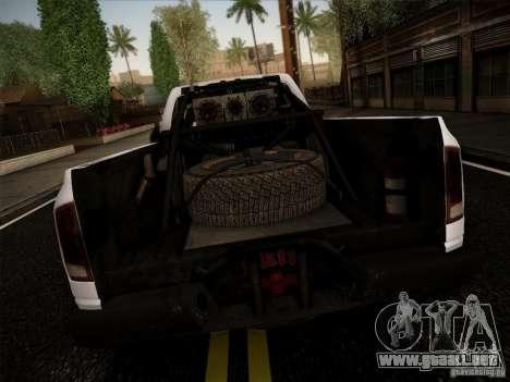 Dodge Ram 1500 4x4 para GTA San Andreas vista posterior izquierda