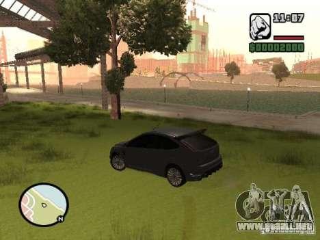 Ford Focus RS 2009 para la visión correcta GTA San Andreas