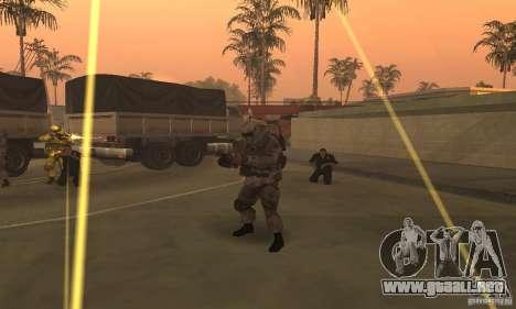 Soldados de la CoD MW para GTA San Andreas sucesivamente de pantalla