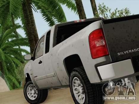 Chevrolet Silverado 2500HD 2013 para GTA San Andreas vista posterior izquierda