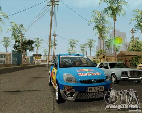 Ford Fiesta ST Rally para GTA San Andreas left