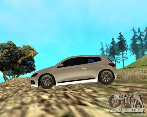 VW Scirocco III Custom Edition para GTA San Andreas vista posterior izquierda