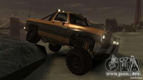Rancher XL 3.0 para GTA 4 vista hacia atrás