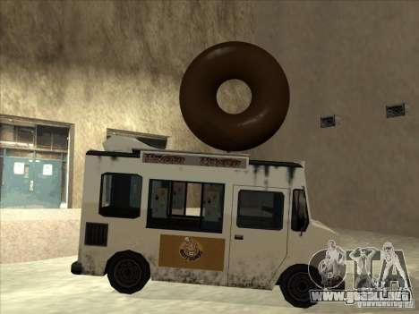 Donut Van para GTA San Andreas vista posterior izquierda