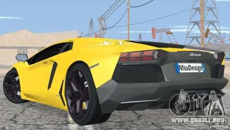 Lamborghini Aventador LP700-4 2012 para las ruedas de GTA San Andreas