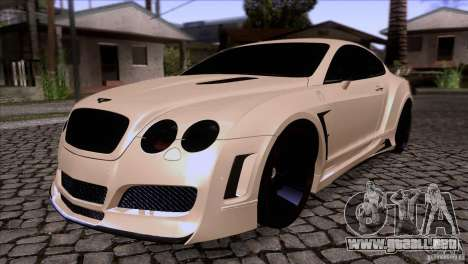 Bentley Continental GT Premier 2008 V2.0 para vista inferior GTA San Andreas