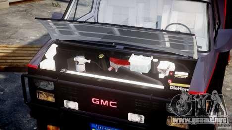 GMC Van G-15 1983 The A-Team para GTA 4 visión correcta