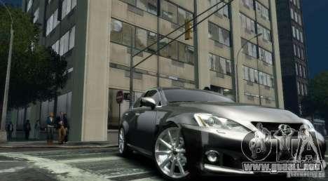 Lexus IS-F para GTA 4 visión correcta