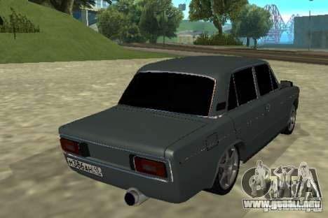 2106 Vaz para GTA San Andreas vista posterior izquierda