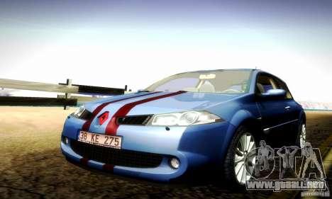 Renault Megane Coupe 2008 TR para visión interna GTA San Andreas