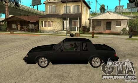 Buick Regal Grand National GNX para GTA San Andreas left