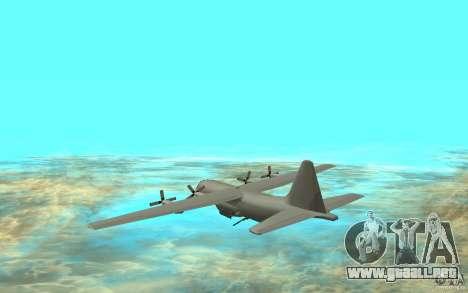 C-130H Spectre para GTA San Andreas vista posterior izquierda