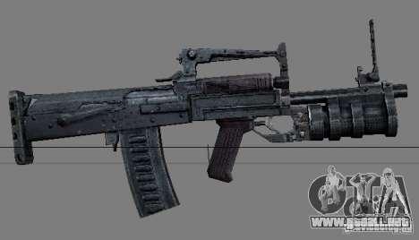 Un conjunto de armas de acosador V2 para GTA San Andreas octavo de pantalla