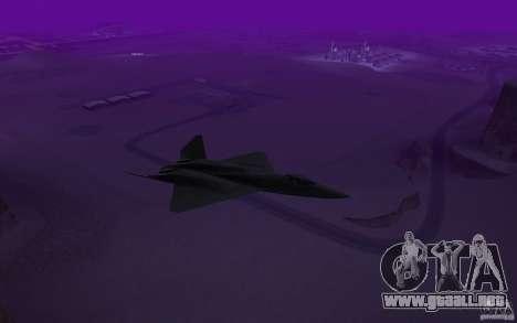 YF-23 para GTA San Andreas vista posterior izquierda