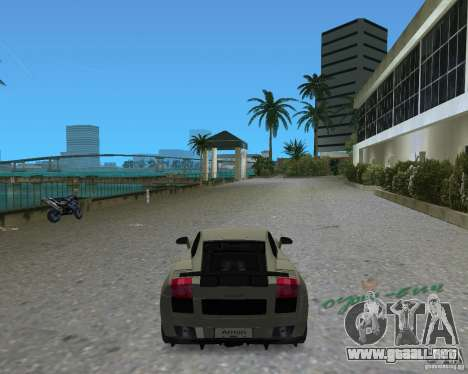 Lamborghini Gallardo Superleggera para GTA Vice City vista lateral izquierdo