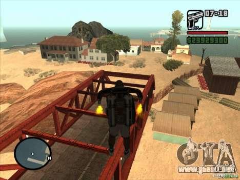 Jetpack spawner para GTA San Andreas tercera pantalla