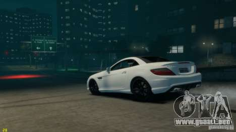 Mercedes-Benz SLK55 R172 AMG 2011 v1.0 para GTA 4 left
