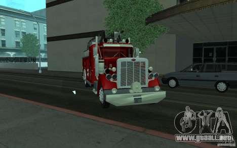 Peterbilt 379 Fire Truck ver.1.0 para GTA San Andreas vista hacia atrás