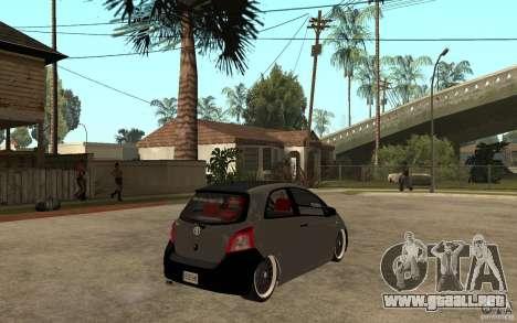 Toyota Yaris II Custom para la visión correcta GTA San Andreas