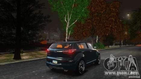 Kia Sportage 2010 v1.0 para GTA 4 vista hacia atrás