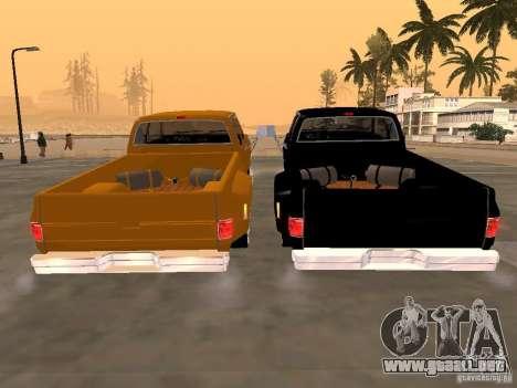 Chevrolet Silverado Lowrider para la visión correcta GTA San Andreas