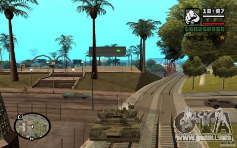 Hydra, Panzer mod para GTA San Andreas segunda pantalla