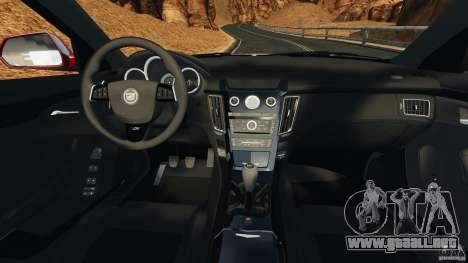 Cadillac CTS-V 2009 para GTA 4 vista hacia atrás