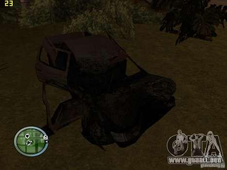 Autos rotas en la calle Grove para GTA San Andreas tercera pantalla