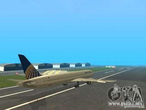 Boeing 787 Dreamliner United Airlines para la visión correcta GTA San Andreas