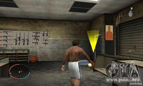 The Holy Grenade para GTA San Andreas tercera pantalla