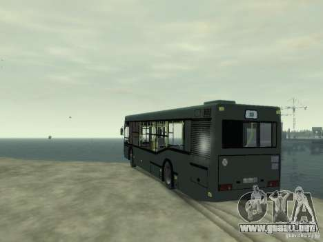 MAZ 103 Bus para GTA 4 Vista posterior izquierda
