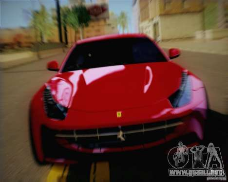 Ferrari FF Sport 2011 para GTA San Andreas vista posterior izquierda