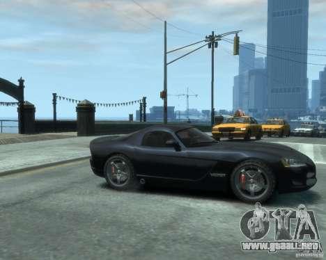 Dodge Viper srt-10 Coupe para GTA 4 visión correcta