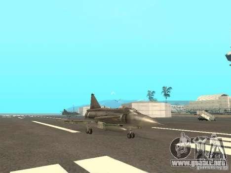 Saab JA-37 Viggen para GTA San Andreas vista posterior izquierda